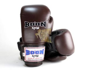 Boon Boxing Gloves Velcro BGV-BN-BK Muay Thai Gear