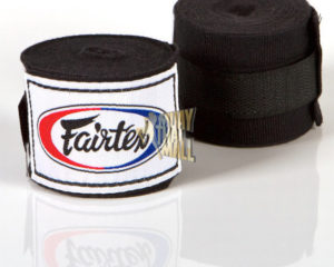 Fairtex Hand Wraps Elastic Cotton Hw2 HW2-BK Muay Thai Gear